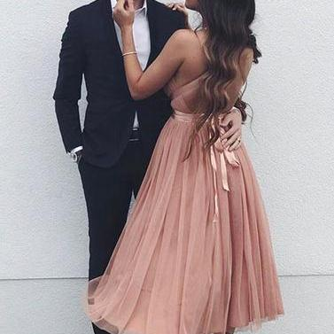 Simple Homecoming Dresses, Pink Hom..