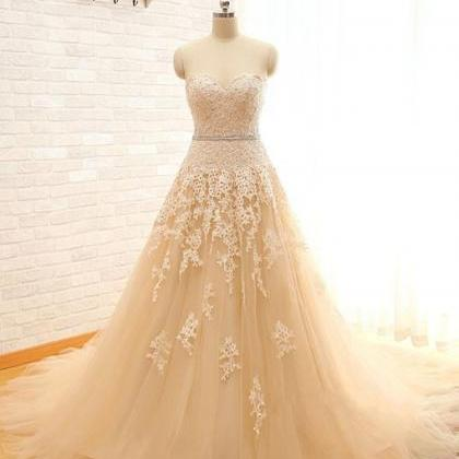 Real Image Sweetheart Lace Tulle We..