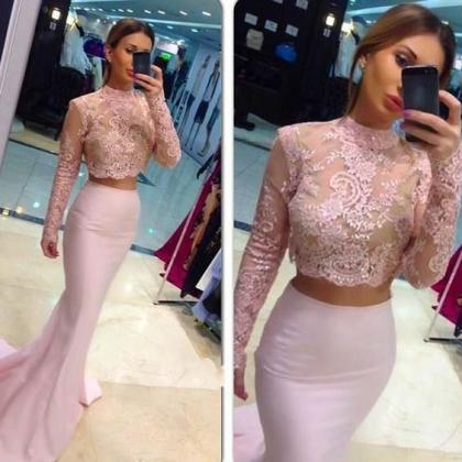 Two-Piece Mermaid Prom Dresses,Long..