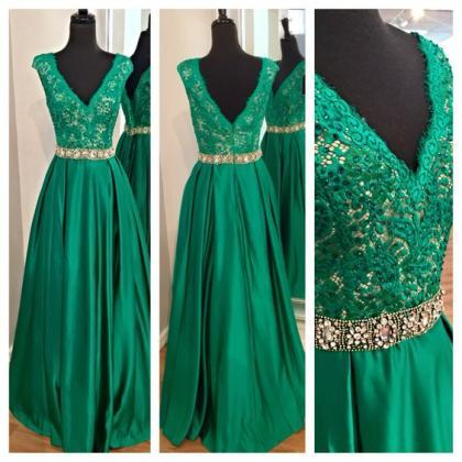 Elegant Formal Dress Green, Sexy Pr..