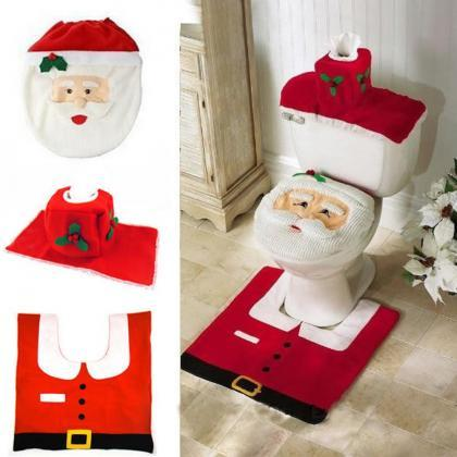 1set HOMESTIA Red Non-woven Santa T..