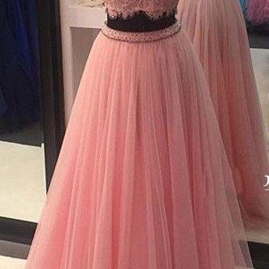 High Neck Prom Dresses, Charming Pr..