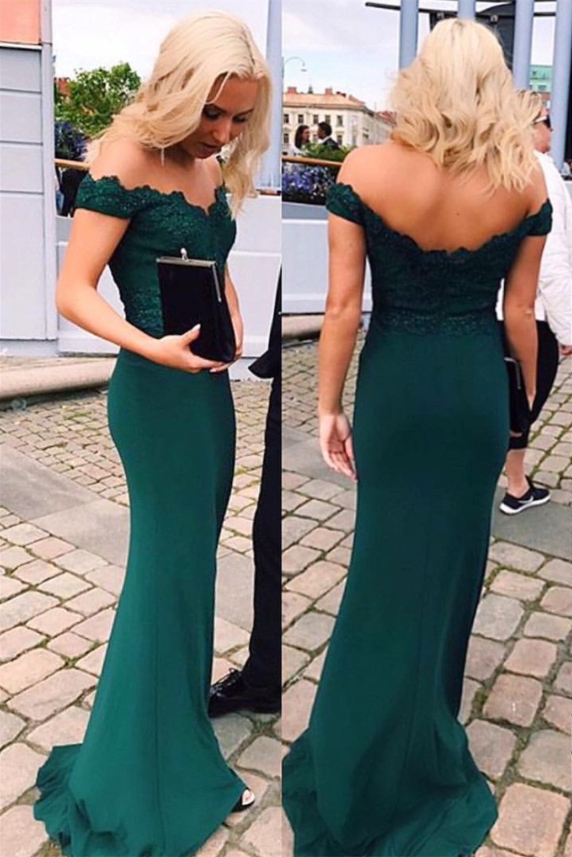 7dab8a09430d Emerald Green Evening Dress,Sexy Woman Prom Dresses, Lace Prom Dress, Mermaid  Prom