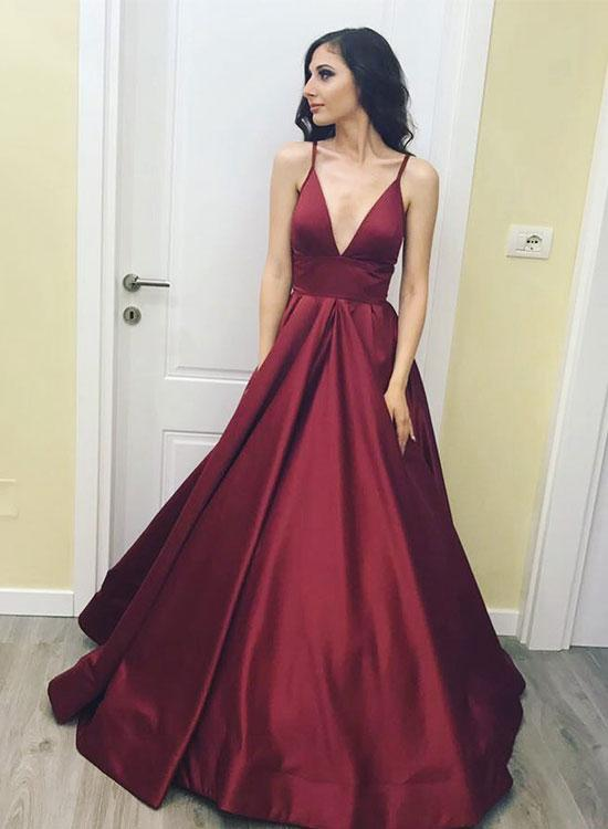 Simple Burgundy Prom Dress 4e7bd1887