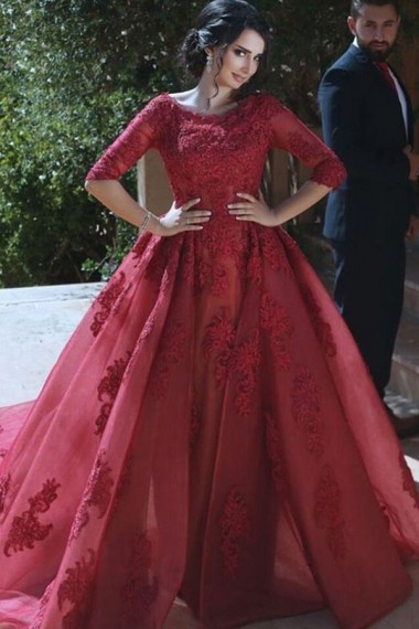 Ball Prom Dress, Burgundy Prom Gowns, Burgundy Wedding Dresses ...