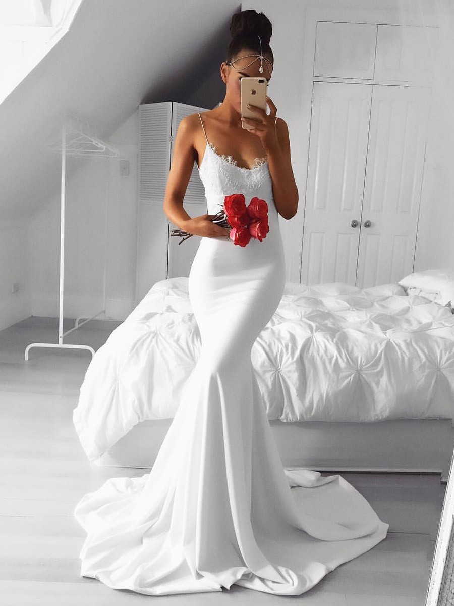Satin Silk Wedding Dress