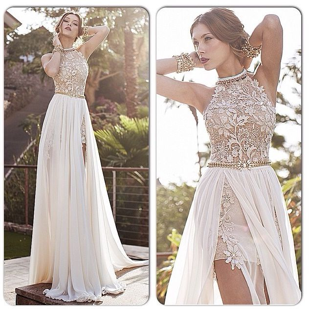 Summer beach wedding dresses in chiffon