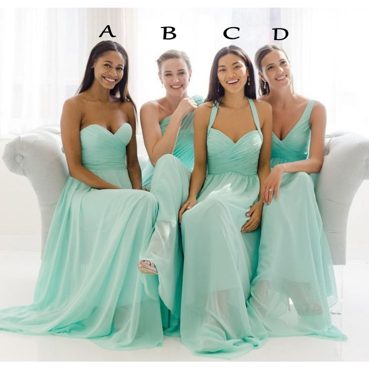 a84abbb5a359 Custom Made Plus Size Chiffon Turquoise Bridesmaid Dresses Long Sweetheart Floor  Length Mint Green Bridesmaid Dresses 2016 Mix Cheap Bridesmaid Dresses