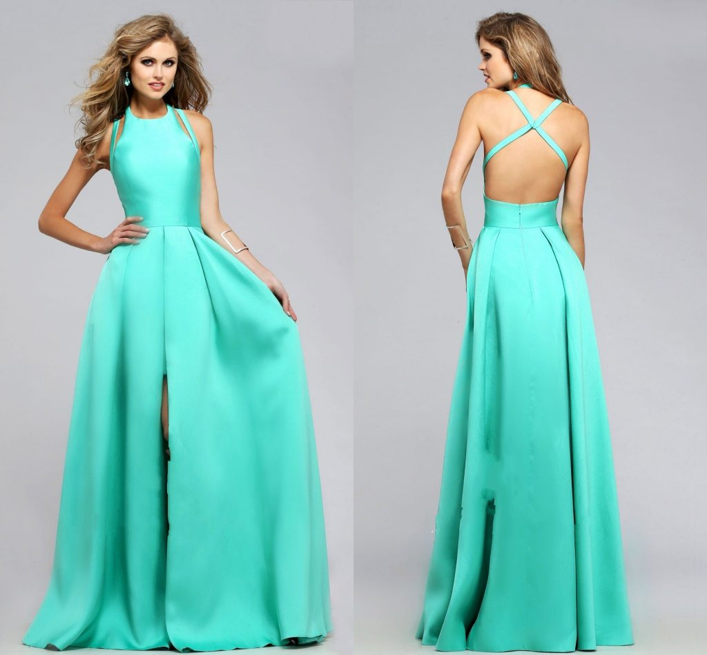 Charming Satin With Attached Split Front Overskirt Prom Dresses ...