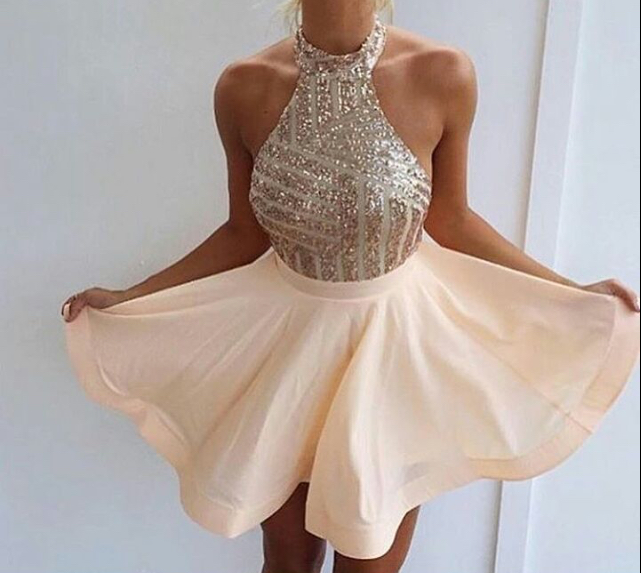 Sequins Homecoming Dress,Party Dress