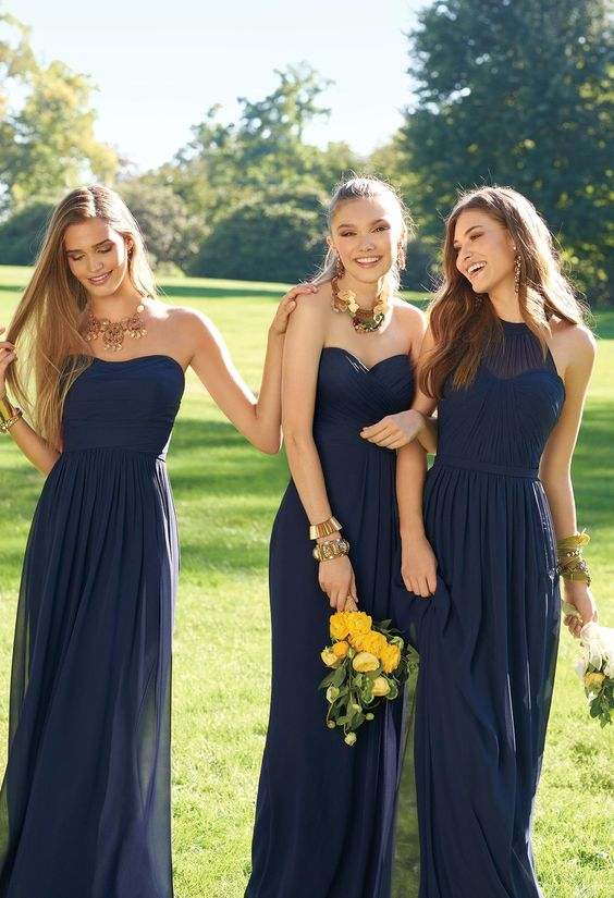 Navy Chiffon Bridesmaid Dress Fashion Dresses,How To Dye A Wedding Dress Purple