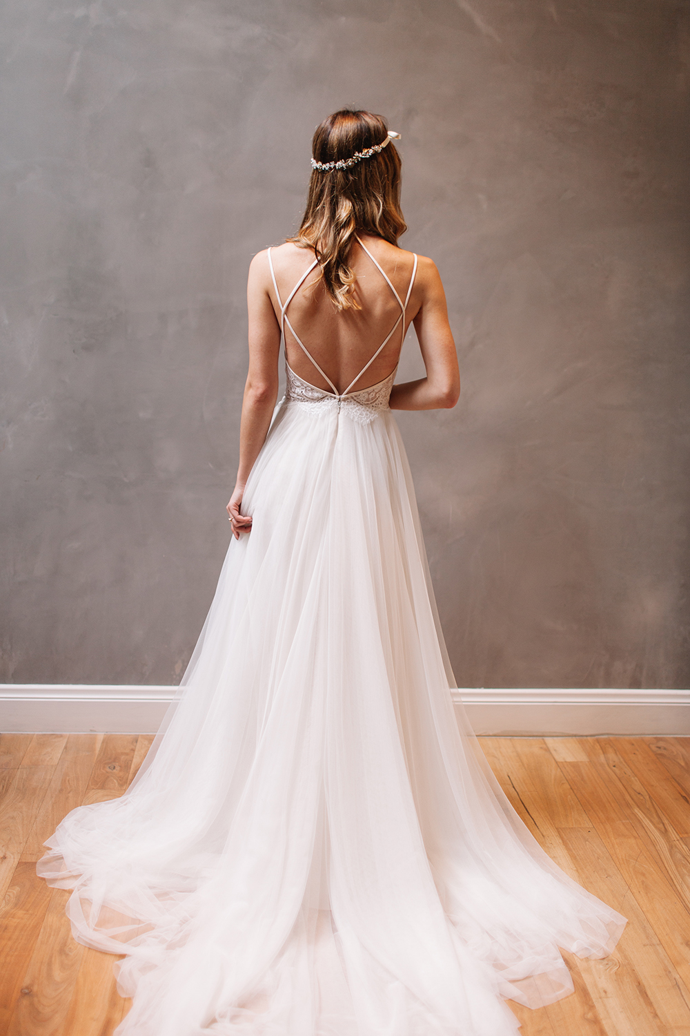 e3ca56bfa9f0a Sexy Backless Wedding Dress, Beautiful Backless Wedding Dresses and Gowns,  Strappy Back, Lace and Tulle Wedding Dress, Wedding Dress, A-line Wedding  Dress