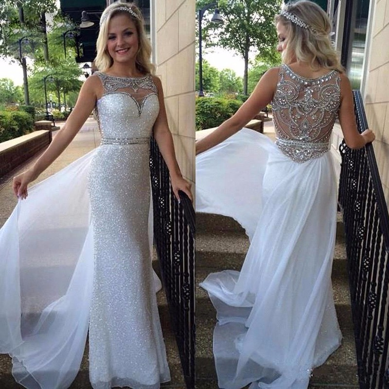 faf8c24ad30 New 2016 Sheath Sequin Prom Dresses