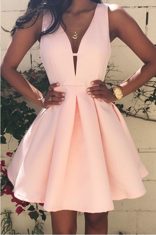 c2900e240280 Simple Design Prom Dress,Cheap Homecoming Dress,Short Deep V-Neck Prom Dress