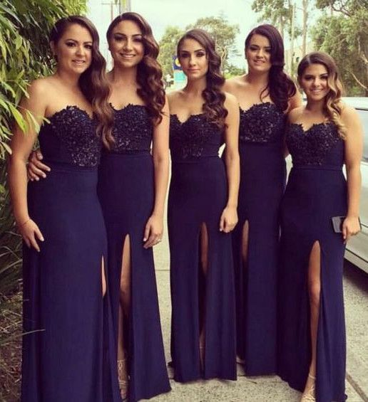 f52a7978717 Elegant Navy Blue Bridesmaid Dresses