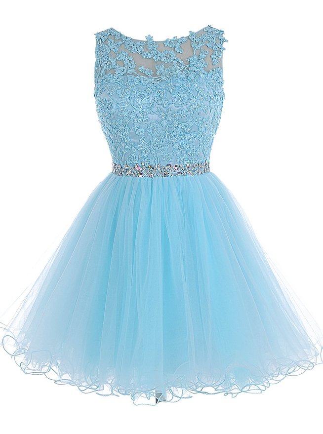 8520780fd8def Tulle Homecoming Dress,Lace Homecoming Dress,Blue Homecoming Dress,Fitted Homecoming  Dress,Short Prom Dress,Homecoming Gowns,Cute Sweet 16 Dress For Teens