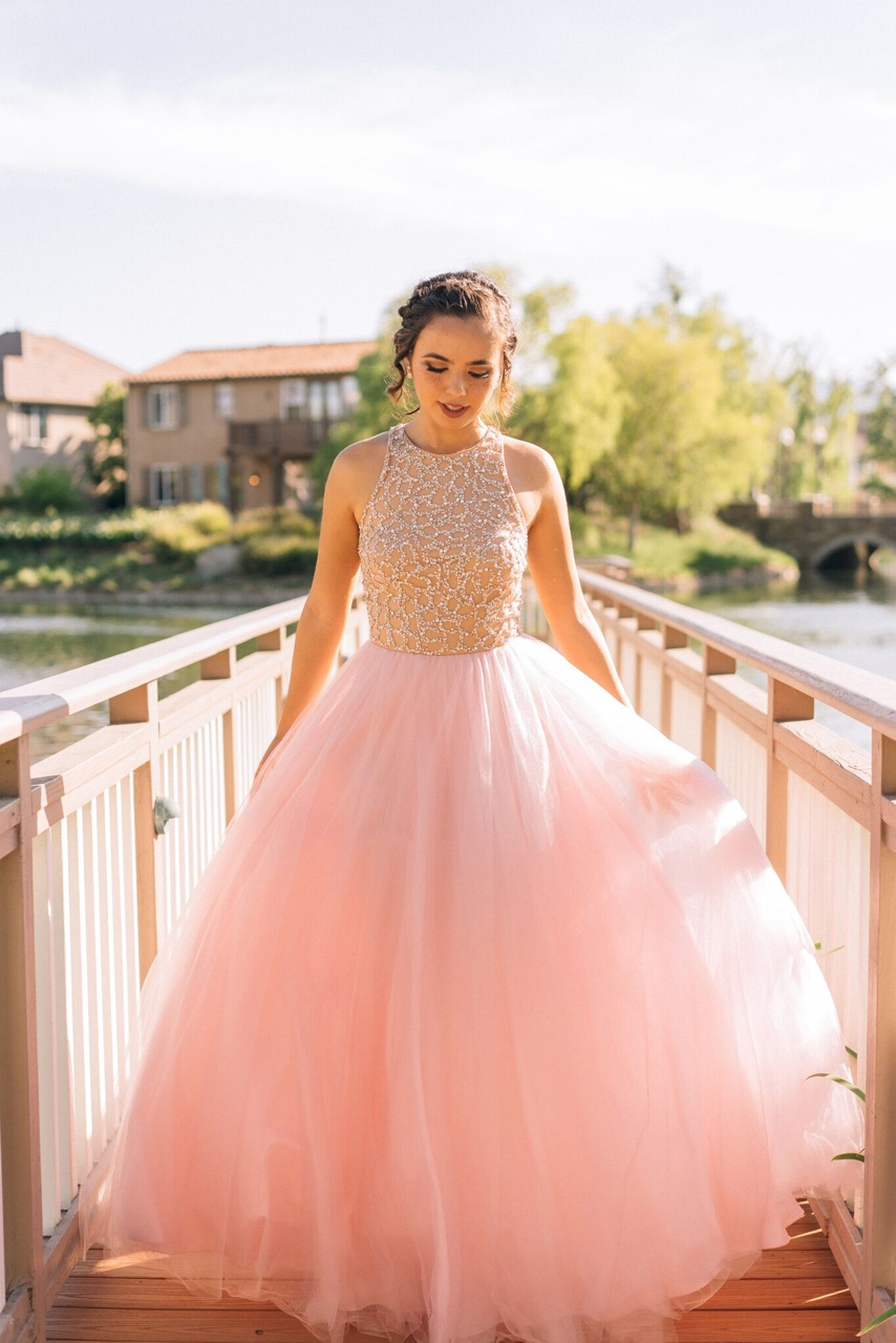 Pink Tulle Prom Dresses,Princess Prom Dress,Ball Gown Prom Gown,Pink ...