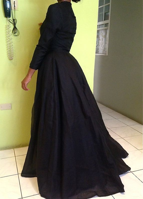 Custom Made Black Woman Jacket, Long Jacket, Prom Cape, Outfit ...