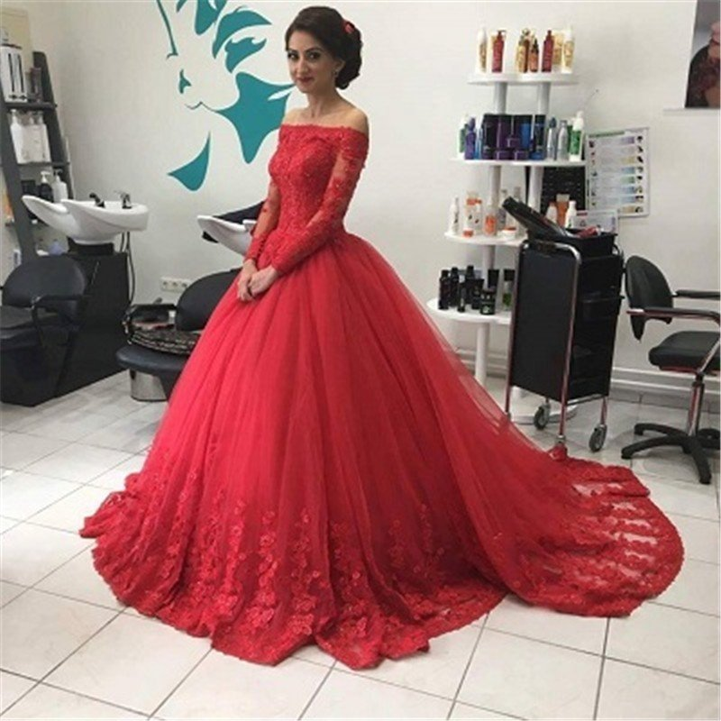 036c9526766 Dark Red A-line Prom Dress,Long Prom Dress,Off Shoulder Prom Dress ...