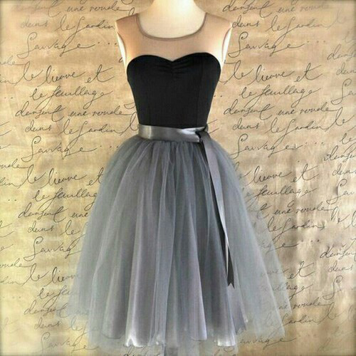 New High Quality Charming Evening Dress, A-Line Cocktail Dress, Homecoming Tulle Prom Dress, Knee-Length Short Dress