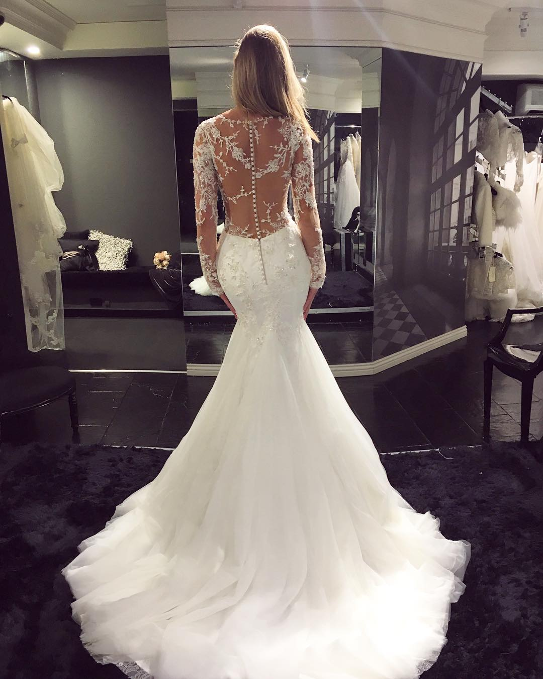 ebacf126961 Mermaid Wedding Gowns With Long Sleeves