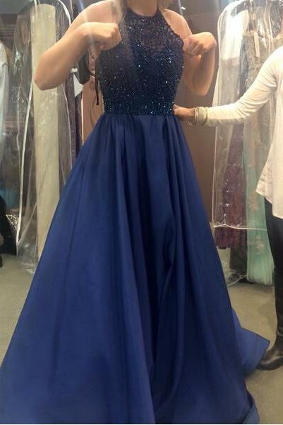 2017 New Fashion Evening Gown,Princess Prom Dresses,Royal Blue Prom Dress,Ball Gown Prom Dress,Beaded Bodice Prom Gown,Sexy Evening Gowns,Red Party Dress For Teens