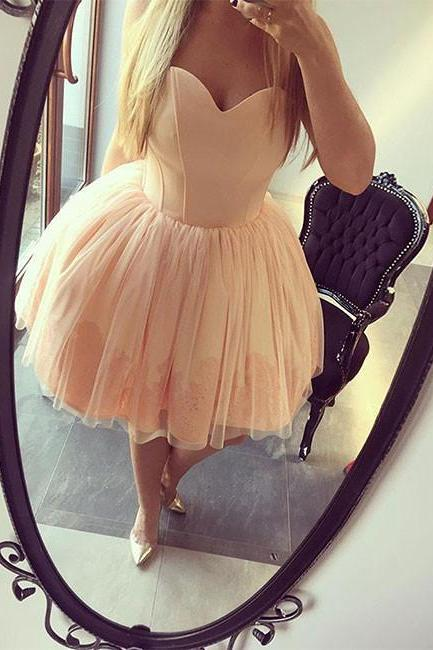 Short Homecoming Dress, Tulle Homecoming Gown, Junior Homecoming Dresses, Short Prom Dress, Puffy Party Dress, Sexy Sweetheart Homecoming Gowns