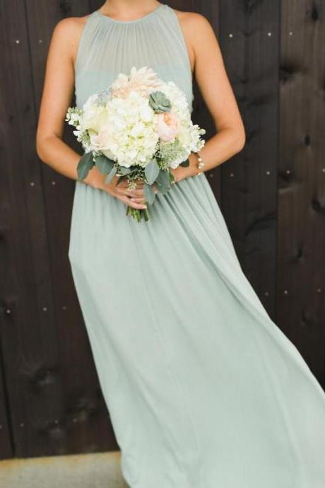 Charming Chiffon Long Bridesmaid Dresses Formal Wedding Party Dresses
