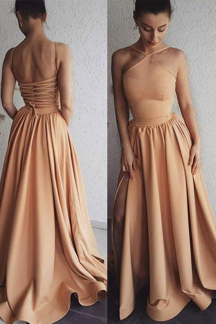 Unique Long Prom dress, Woman Evening Dress Backless