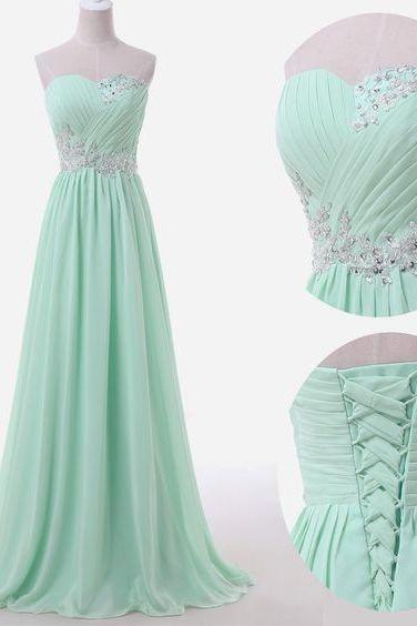For Sale Plus Size Long Dress Beaded Prom Evening Gown Ball Party Bridesmaid Formal Real Prom Dresses Chiffon Prom Gowns