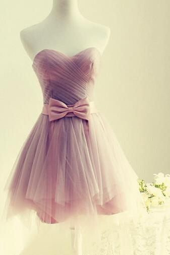 Cute Tulle Sweetheart Short Prom Dresses, Short Homecoming Dresses, Purple Homecoming Dresses, Graduation Dresses