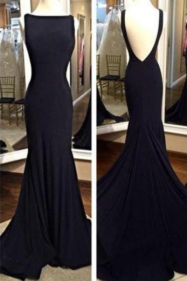 Charming Prom Dress,Sabrina Prom Dress,Backless Prom Dress,Spandex Prom Dress,Mermaid Evening Dress,Black Prom Dresses,Open Back Cocktail Dresses,Evening Gown