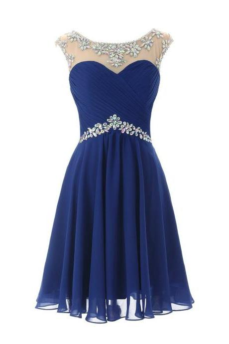 Short Prom Dresses, Sexy Homecoming Dress, Homecoming Dress for Juniors, Birthday Dress, Blue Prom Dress, Party Dress