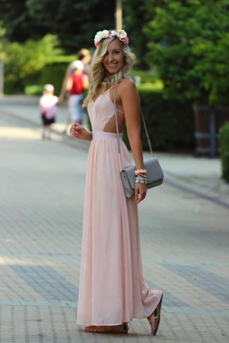 High Quality Prom Dress,Charming Prom Dress,Chiffon Prom Dress,Brief Prom Dress,Backless Prom Dress, Woman Dress