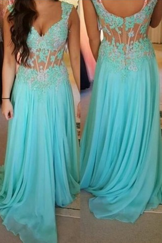 Charming Evening Dress, Sky Blue Chiffon Prom Dress, Elegant Prom Dresses, Long Evening Gown,Formal Dress, Long Party Dress, Woman Dress for Weddings and Evening Events