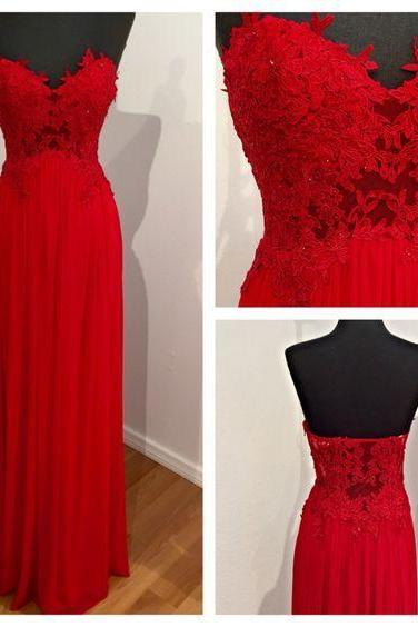 Long Formal Evening Dress,New Arrival Red Chiffon Prom Dress,Backless Prom Dresses,Formal Prom Gown