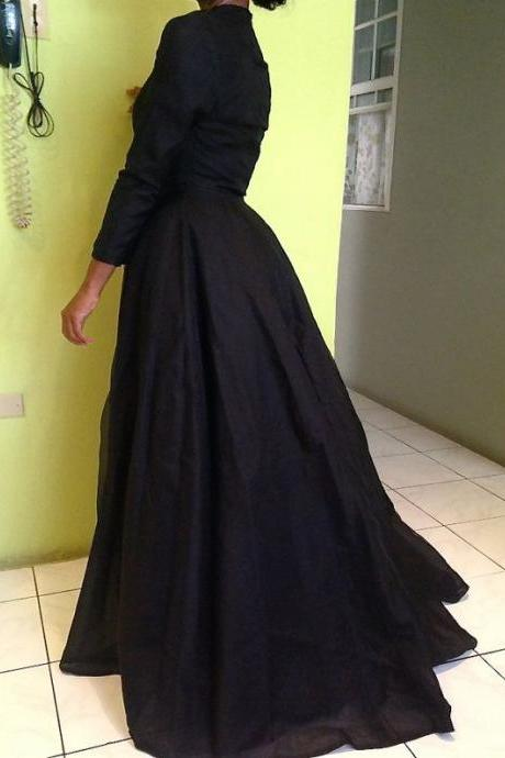 Custom Made Black Woman Jacket, Long Jacket, Prom Cape, Outfit Jacket, Party Dress Jacket, Woman Jacket, Black Jacket