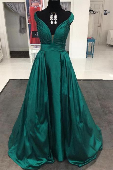 Emerald Green Evening Gowns, Elegant Evening Dresses, Formal Dresses, Pageant Dresses Formal Gowns Long Prom Dresses, Prom Dresses 2016, Emerald Green Prom Dresses