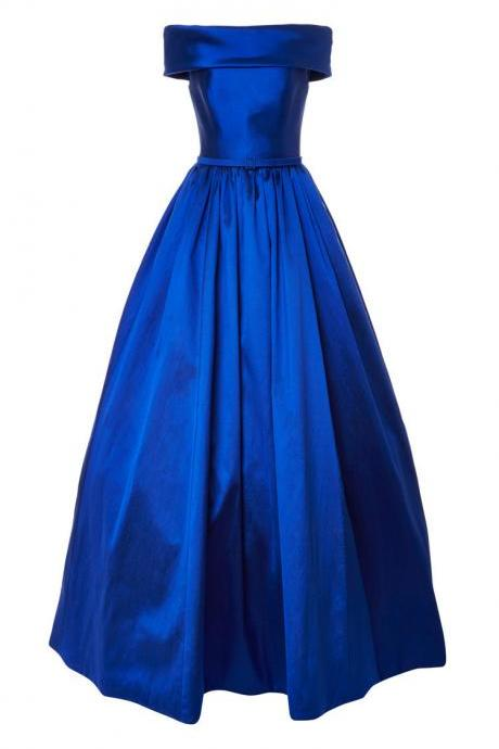 Charrming Off-Shoulder Ball Gown, Long Formal Pegeant Prom Gown, Royal Blue Prom Dress, Beauty Prom Dress, Long Prom Dress, Woman Evening Dress