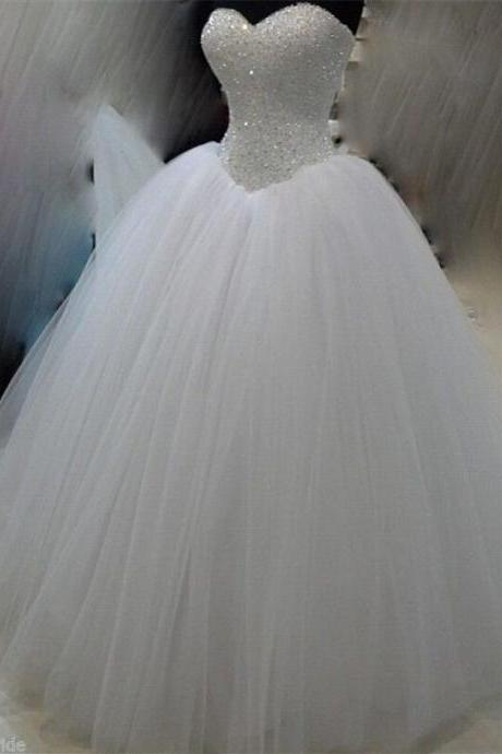 Wedding Dresses New White/Ivory Beadding Wedding Dress Bridal Gown Custom Size
