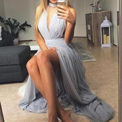 Sexy Prom Dress,High Slit Prom Dresses,Sexy Evening Dress,Long Evening Dresses,Sleeveless Prom Dresses,Party Dress