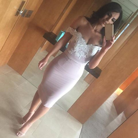 Sexy Off the Shoulder Short Prom Dress, Short Evening Dress, Lace Homecoming Dress, Short Prom Dress, Woman Evening Party Dress