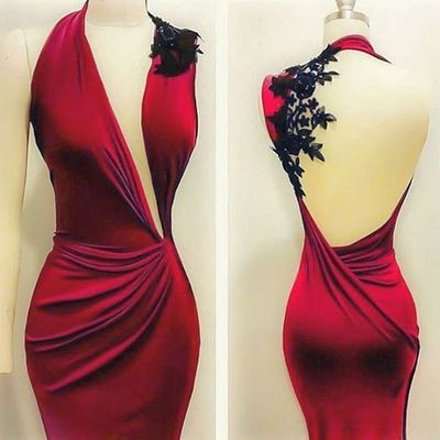 Sexy Backless Prom Dresses, Red Mermaid Prom Dresses, Halter Prom Gown, Woman Dresses, Sexy Evening Dresses, Celebrity Dresses, Formal Dresses for Weddings and Evening Events