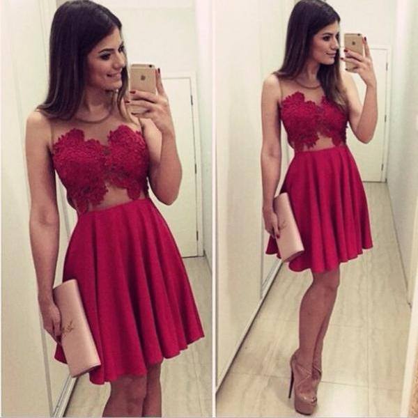 New Arrival Sexy Homecoming Dresses,O-Neck Graduation Dresses,Homecoming Dress,Short/Mini Chiffon Homecoming Dress, Party Dresses