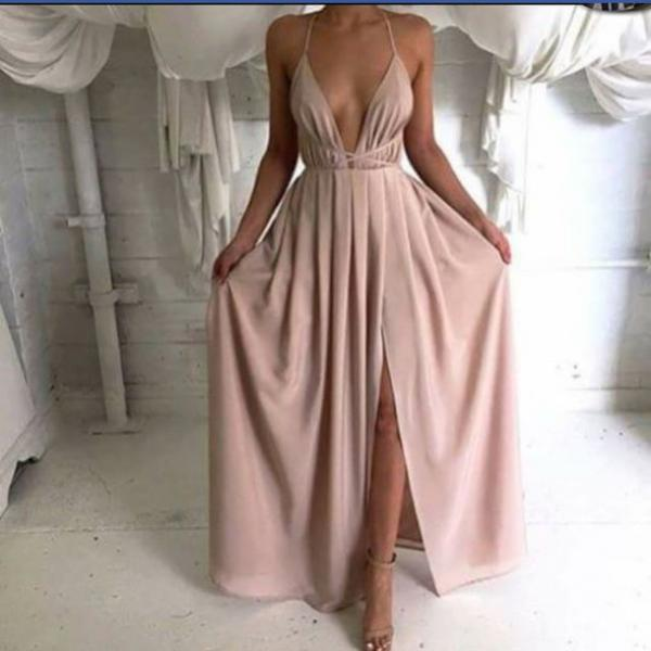 Custom Made Backless Long Prom Dresses, Sexy Women Dresses, Prom Dresses 2015, Graduation Dresses, Formal Dresses, Sexy V neck Evening Dresses