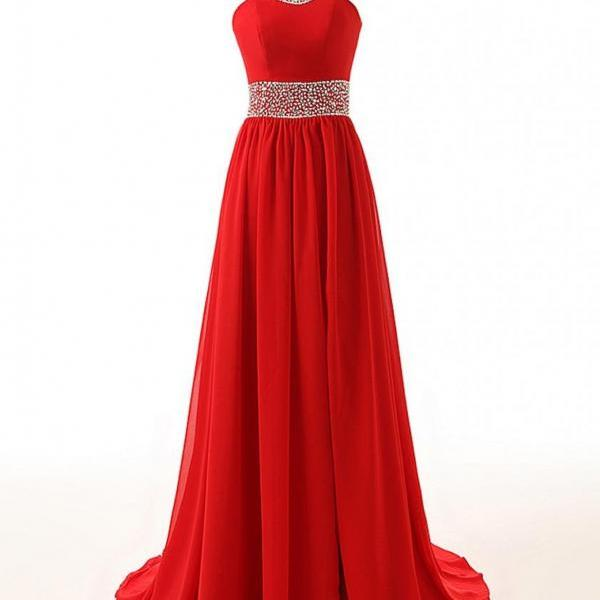 Red Prom Dress,Red Evening Dress, Long Prom Dress, Keyhole Prom Dress, Cheap Prom Dress On Sale