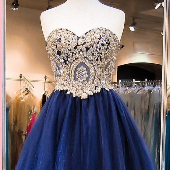Cute Blue Homecoming Dresses, Short Prom Dresses, Lace Organza Homecoming Dresses, Lovely Party Dresses, Custom Made Homecoming Dresses, Homecoming Dresses