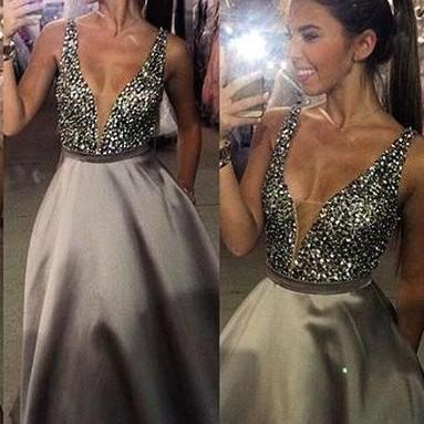 Glitter Light Purple Prom Dress, Long Prom Dress, Sexy V neck Prom Dress, Beading Prom Dresses, Prom Dress for Teens, Senior Prom Dress, Prom Gowns